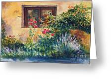 Casale Grande Rose Garden Greeting Card