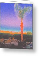 Casapaz  Palm At Dawn Greeting Card