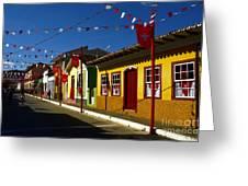 Colonial Colofrul Houses At Sao Luiz Do Paraitinga - Brazil Greeting Card