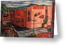 Casas Rosadas Greeting Card
