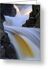Cascade At Dawn Greeting Card