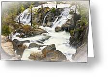 Cascade Creek From Above Greeting Card