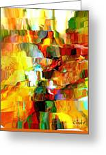 Cascade De Couleurs Greeting Card