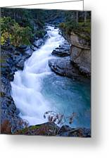 Cascade In The Maligne Canyon Greeting Card