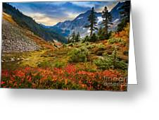 Cascade Pass Fall Greeting Card by Inge Johnsson
