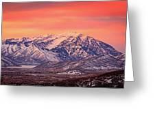 Cascade Ridge Sunrise Greeting Card