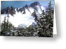 Cascade Splendor  Mount Fury Greeting Card