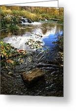 Cascade Springs With Rock Greeting Card