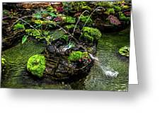 Cascades Fountains Greeting Card