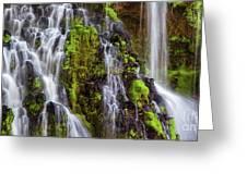 Cascades Of Burney Falls Greeting Card