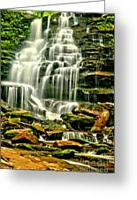 Cascades Of Erie Falls  Greeting Card