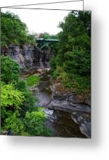 Cascadilla Gorge Cornell University Ithaca New York 01 Greeting Card