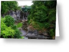 Cascadilla Gorge Cornell University Ithaca New York 02 Greeting Card