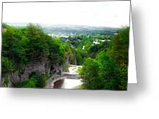 Cascadilla Gorge Cornell University Ithaca New York Panorama Greeting Card