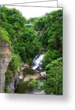 Cascadilla Waterfalls Cornell University Ithaca New York 01 Greeting Card