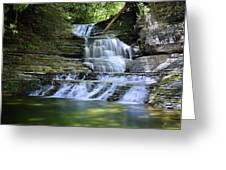 Cascading Descent Greeting Card