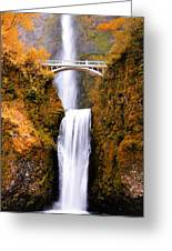 Cascading Gold Waterfall Greeting Card