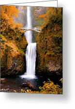 Cascading Gold Waterfall II Greeting Card