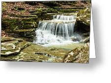 Cascading Into The Pool Greeting Card