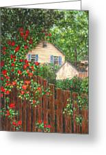 Cascading Roses Greeting Card