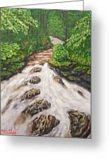 Cascading Stream Greeting Card
