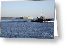 Casco Bay - South Portland Maine  Usa Greeting Card