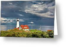 Casco Bay Lookout Greeting Card