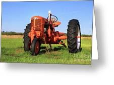 Case Tractor Greeting Card