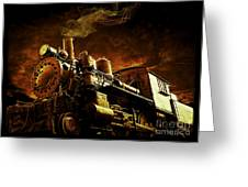 Casey Jones And The Cannonball Express Greeting Card