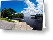 Casey Key Swing Bridge Open For Boats Greeting Card