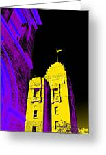 Casino Building In Yellow Greeting Card