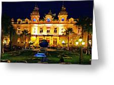 Casino Monte Carlo Greeting Card by Jeff Kolker
