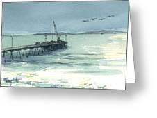 Casitas Pier 3 Greeting Card