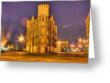 Cass Castle Detroit Mi Greeting Card