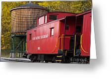 Cass Railroad Caboose Greeting Card