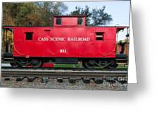 Cass Red Caboose Greeting Card