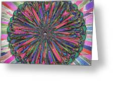 Cassandra -- Floral Disk Greeting Card