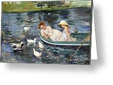 Cassatt: Summertime, 1894 Greeting Card