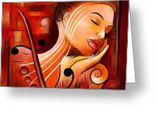 Casselopia - Violin Dream Greeting Card