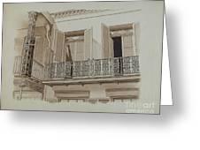 Cast Iron Balcony Rail Greeting Card