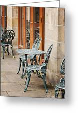 Cast Iron Garden Furniture Greeting Card