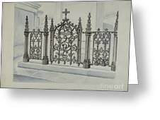 Cast Iron Gate And Fence Greeting Card