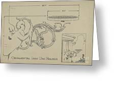 Cast Iron Urn Holder Greeting Card