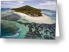 Castaway Island Aerial Greeting Card