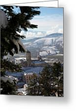 Castel Del Monte Abruzzo Italy Greeting Card