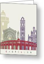 Castellon Skyline Poster Greeting Card