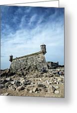 Castelo Do Queijo Old Fort Landmark In Porto Portugal Greeting Card