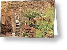 Castelo Rodrigo Garden Greeting Card