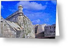 Castillo El Morro Havana Cuba  Greeting Card