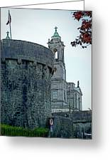 Castle And Church Athlone Ireland Greeting Card